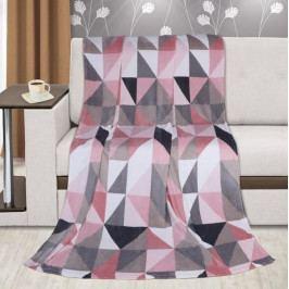 Bellatex deka Kemping plus růžové trojúhelníky 150x200 cm