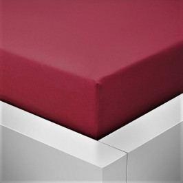 Prostěradlo jersey vínově červená 90-100x200 cm