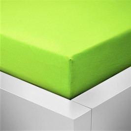 Prostěradlo jersey zelená limetka 90-100x200 cm