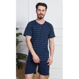 Pánské pyžamo šortky Vilém Velikost M, Barva světle šedá