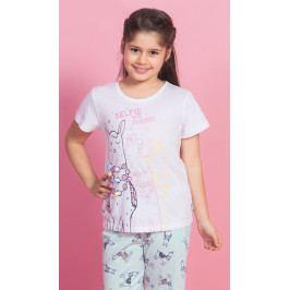 Dětské pyžamo kapri Lama Velikost 9 - 10, Barva bílá