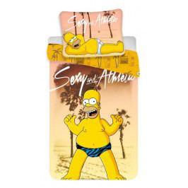 Jerry Fabrics povlečení bavlna Simpsons Homer beach 140x200+70x90 cm