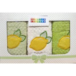 Dárková sada utěrek citron - 3 ks