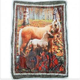 Jahu deka beránek 120x150 cm koně