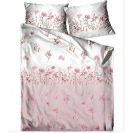Greno povlečení bavlněný satén Flowers pink 140x200+70x90 cm