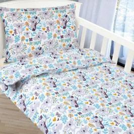 Bellatex dětské povlečení bavlna do postýlky Medvídek koala  90x135+45x60 cm