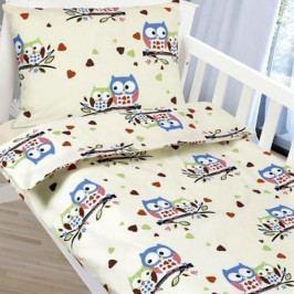 Bellatex dětské povlečení bavlna do postýlky Sovičky 90x135+45x60 cm