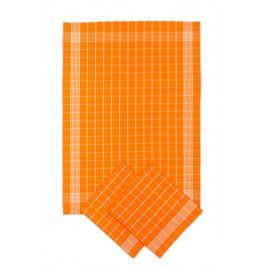 Svitap Utěrka Pozitiv Egyptská bavlna oranžová/bílá 50x70 cm balení 3 ks