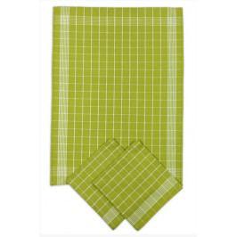 Svitap Utěrka Pozitiv Egyptská bavlna zelená/bílá 50x70 cm balení 3 ks