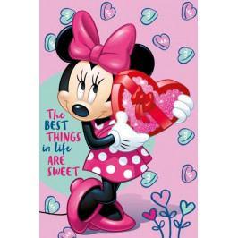 Jerry Fabrics dětská fleecová deka Minnie pink 100x150 cm