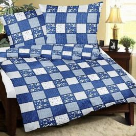 Bellatex povlečení bavlna patchwork modrý 140x200+70x90 cm