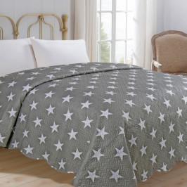 Jahu přehoz na postel 220x240 cm Star šedý