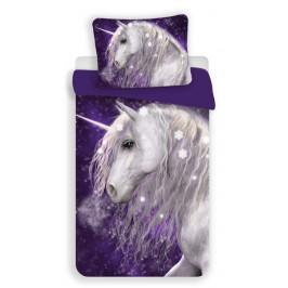 Jerry Fabrics povlečení bavlna Unicorn purple 140x200+70x90 cm