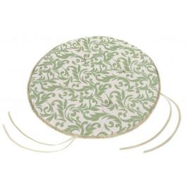 Bellatex sedák kulatý hladký IVO ornament zelený