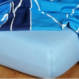 Dadka prostěradlo jersey světle modrá A - 90x200x18 cm