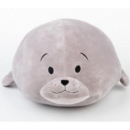 Dětský plyšák mikro spandex tuleň šedý 35 cm