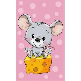 Carbotex dětský froté ručník Myška a ementál 30x50 cm