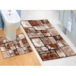 Bellatex koupelnové předložky 3D tisk kamenná dlažba 60x100+60x50 cm