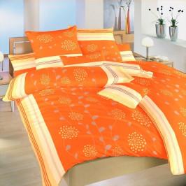 Dadka povlečení krep Liána oranžová 140x200+70x90 cm