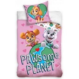 Carbotex dětské povlečení bavlna Tlapková Patrola Planeta 140x200+70x90 cm
