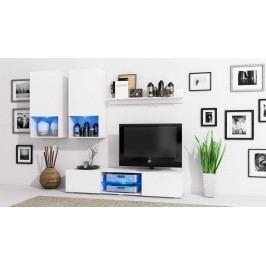 MEBLINE Stylová obývací stěna DECO Bílý mat / Bílý mat