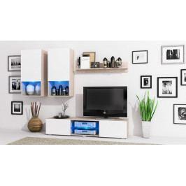 MEBLINE Stylová obývací stěna DECO Sonoma / Bílý mat