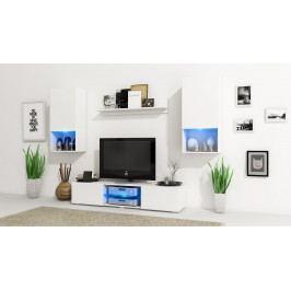 MEBLINE Obývací stěna VERO Bílý mat / Bílý mat