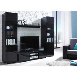 MEBLINE Moderní nábytek do obýváku DAGELO sestava 4 Černý