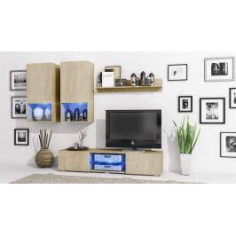 MEBLINE Stylová obývací stěna DECO Sonoma / Sonoma
