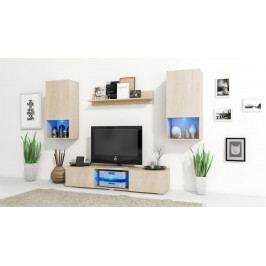 MEBLINE Trendy obývací stěna VERO Sonoma / Sonoma