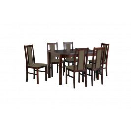 MEBLINE Stůl Max 5 + Židle Bos 14 (6ks.)-DX14