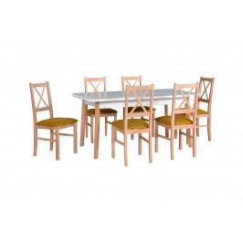 MEBLINE Stůl OSLO 8 + Židle NILO 10 (6ks.) DX21