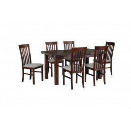 MEBLINE Stůl WENUS 5 + Židle MILANO 2 (6ks.) DX25