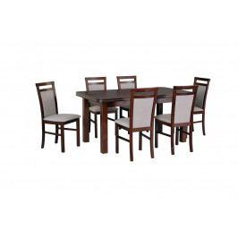 MEBLINE Stůl WENUS 5 + Židle MILANO 5 (6ks.) DX28