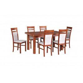 MEBLINE Stůl WENUS 5 + Židle MILANO 6 (6ks.) DX30