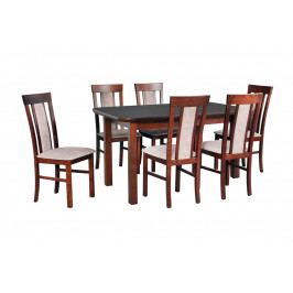 MEBLINE Stůl WENUS 5S + Židle MILANO 8 (6ks.) DX32