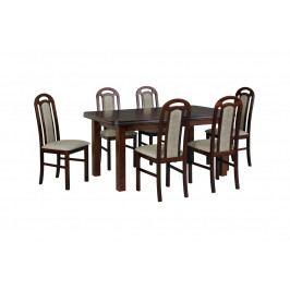 MEBLINE Stůl WENUS 5 + Židle PIANO (6ks.) DX33