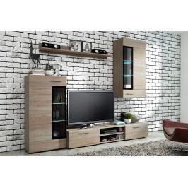 MEBLINE Obývací stěna ELIAN sonoma