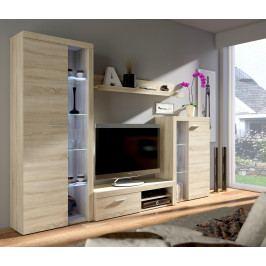 MEBLINE Obývací stěny RUMBA / RODOS  Sonoma / Sonoma