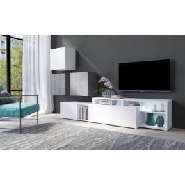 MEBLINE Systémový nábytek VENTO 1 Bílý / Beton Colorado
