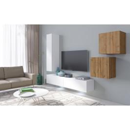 MEBLINE Systémový nábytek VENTO 3 Bílý / Dub Grandson