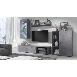 MEBLINE Nábytek do obývacího pokoje DINO 4 Beton / Beton