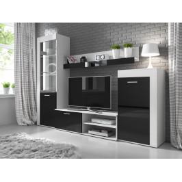 MEBLINE Nábytek do obývacího pokoje SOLLO Bílý / Betón