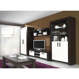 MEBLINE Moderní systémový nábytek CEZAR 2 milano/crem