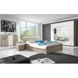 MEBLINE Systémový nábytek BETA 1 San Remo / Bílý