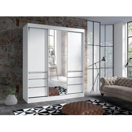 MEBLINE Śatní skříň s zásuvkami HAITI 180 Bílý