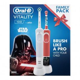 Oral-B Vitality 100 D100 Adults White CA + D100 Star Wars