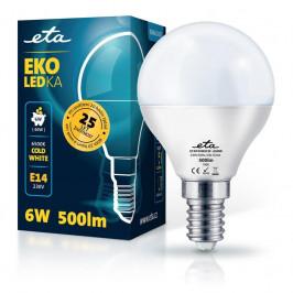 ETA EKO LEDka mini globe 6W, E14, studená bílá (P45W6CW)