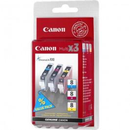 Canon CLI-8 CMY, 420 stran - originální červená/modrá/žlutá (0621B026)