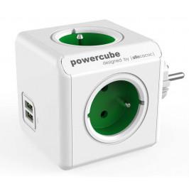 Powercube Original USB,  4x zásuvka, 2x USB bílá/zelená